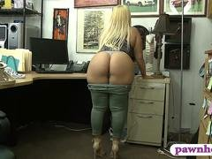 Phat ass lady pounded by pawnshop owner in his office