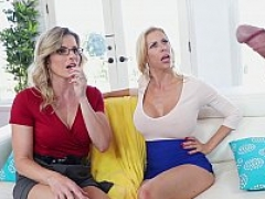 Stepson has an intercourse his mommy and moreover her friend