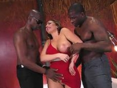 Hoe wife meets with a a couple of black lads for sex