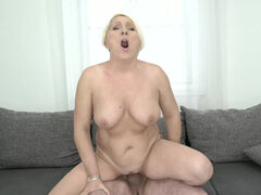 Mature Bibi Pink finds young stud to fulfill her needs