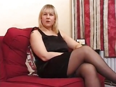 Milk sacks Aged UK Blonde Does Anal