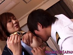 Deepthroating nippon mom assfucked
