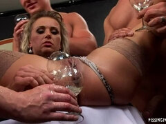 Piss Tasting With A Hot Blonde
