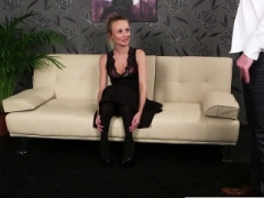 Inked British inexperienced facialized pov after bj