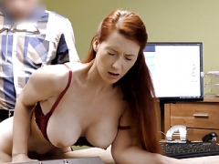 LOAN4K. Splendid boobs for credit manager