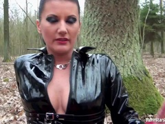 Fetish Freak Piss Dominated In The Woods