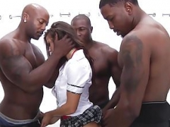 School Gal Keisha Grey Puts In Work Hot Rough BBC Gangbang