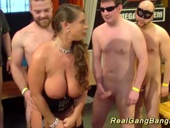 big breast stepmoms first real ganbang