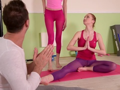Hardcore Yoga: 2 Slim Babes, 1 Hard Cock, 4 Sexy Feet