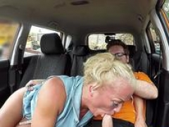Fake Driving School Sloppy titwank and furthermore backseat bj with big tits Brit