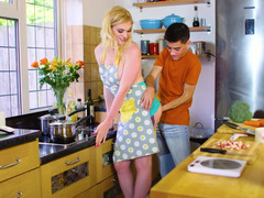 Nice stepmom is surprised with sexual abilities of skinny stepson