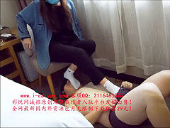 ASIAN CHINESE BEAUTY college girl soleJOB foot fetish SOCKJOBS ???????????