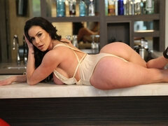 Awesome busty brunette Kendra Lust fucked in the missionary pose