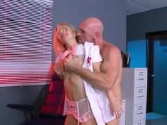 Insatiable nurse likes doing her job