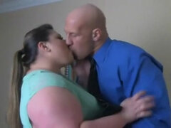 Tempting And Horny Fatty Fucks Bald Husband