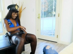 Ebony cop stripper makes love wrong man