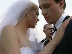 Bride Fucked Outdoors By Multiple Fella!