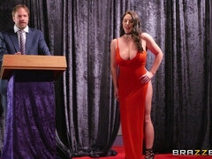 Hot Brazzers pornstar with big naturals Angela White at Threesome Auction