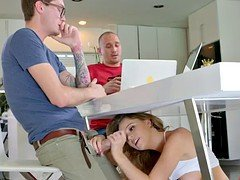 Alexis Adams seduces her boyfriend's less experienced brother