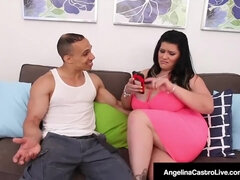 Latina PLUS-SIZE Angelina Castro Rear End Drilled By Latino!