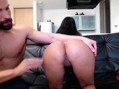 Milf Catalina Diaz got picked down then fucked & facialized on the couch