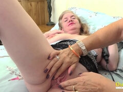 OldNanny Black dildo in Savana and Lily
