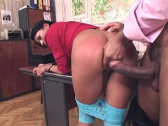 XXX Law Enforcement: Hooker Ass Fucked While Riding Baton!