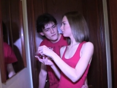 Glamorous undersized Russian makes BF cuckold