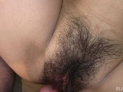 Karin Asahi takes a creampie after long sex session