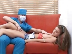 excited doctor perverted treatment with teen