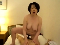 Utterly bushy Asian ass fuking hard