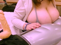 Huge Jugs amateur titjob with toys