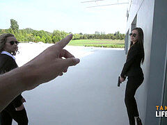 banging blonde and black-haired FBI agents pov