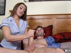 Couple has Threeway with Sexy Nurse