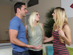 Riley Evans meets up with her old college friend Natalia Starr for a three-way