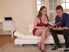 Foxy Milf Cathy Heaven takes Three Dicks in her Tight Ass & Pussy GP508