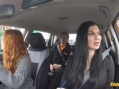 Fake Driving School (FakeHub): Sweet redhead in Hard Threesome