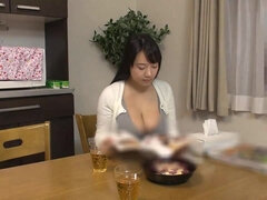 Hot Japanese stepmom seduces her stepson  big tits