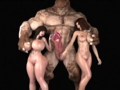 3D Ogres and also Monsters Destroy Chicks!