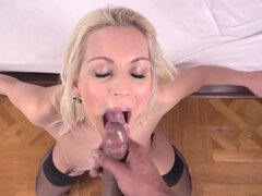 Naughty blonde Cecilia Scott eager to feel husband's hard cock inside her
