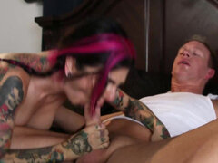Joanna Angel caught toying gets fucked in the ass by the meter reader