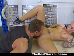 The Real workout- Christy Mack banged At The Gym By Trainer