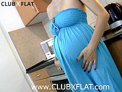 CLUBXFLAT- pregnant stunner downright waxed