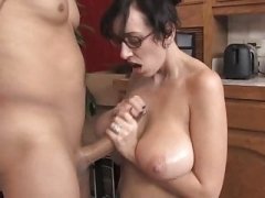 Huge Saggy Breasts MILF Glasses