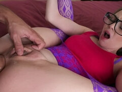 Nerdy chick Angel Smalls loses her anal virginity