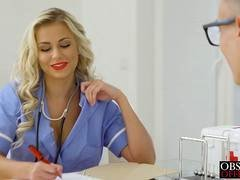 Hot nurse Lola MyLuv getting drilled in the office