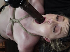 Kate Kennedy is Brutalized in Extreme Bondage and Made to Cum