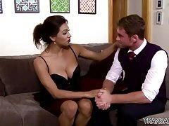 Excited guy assfucked Ladyboy Jessy Dubai
