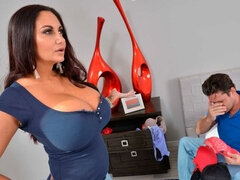 Ava Addams fucking in the bedroom with her brown eyes