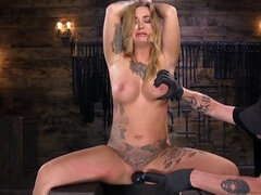 Radiant tattooed babe loves to be tied and tormented